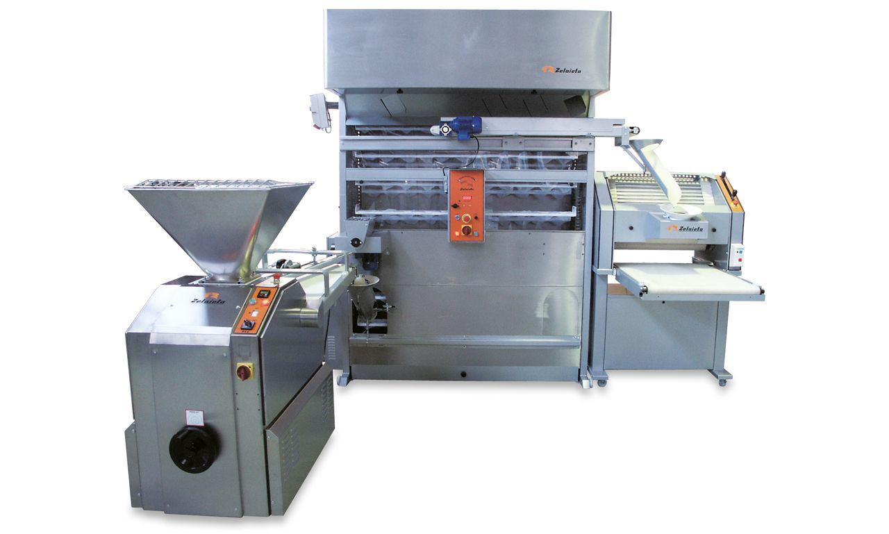 Semiautomatic Groupe with vertical moulder